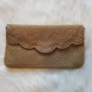 Vintage Regale Gold Beaded Evening Bag